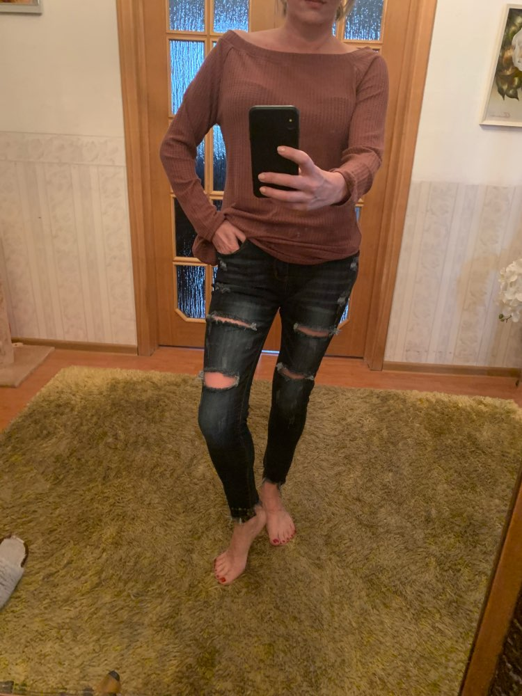 Hole Ripped Jeans Women Pants Cool Denim Vintage Skinny Push Up Jeans High Waist Casual Ladies Jeans Slim Mom Jeans photo review