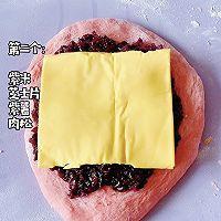红丝绒紫米欧包的做法图解6