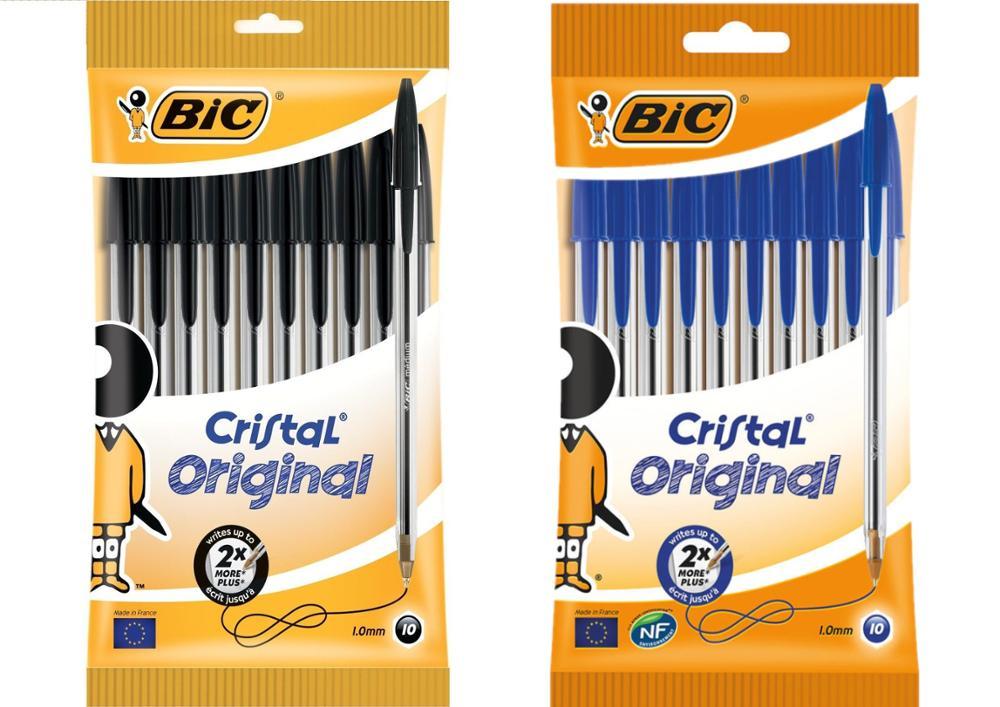 Bolígrafo Original de Cristal negro Bic 10 Uds FTTH-Kit de herramientas de fibra óptica, 12 unidades por juego, medidor de potencia óptica de 70 ~ + 3dBm, pluma láser de 5km de fibra de FC-6S
