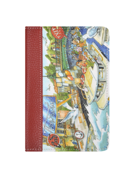 10000032292387 - MAYAKNI Store - ¡Cubierta en el pasaporte Woodsurf caras y lugares sketch canales Петербурга... нат! De cuero