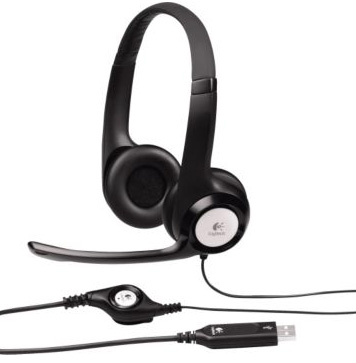 Headset Logitech H390 Microfone With Supresion De Noise USB P/n: 981-000406