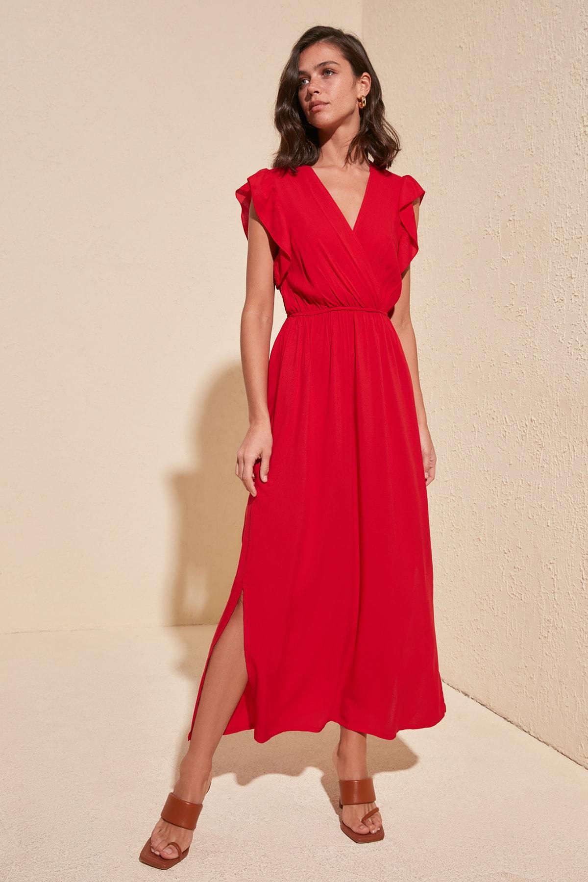 Trendyol Handles Flounces Dress TWOSS20EL1918