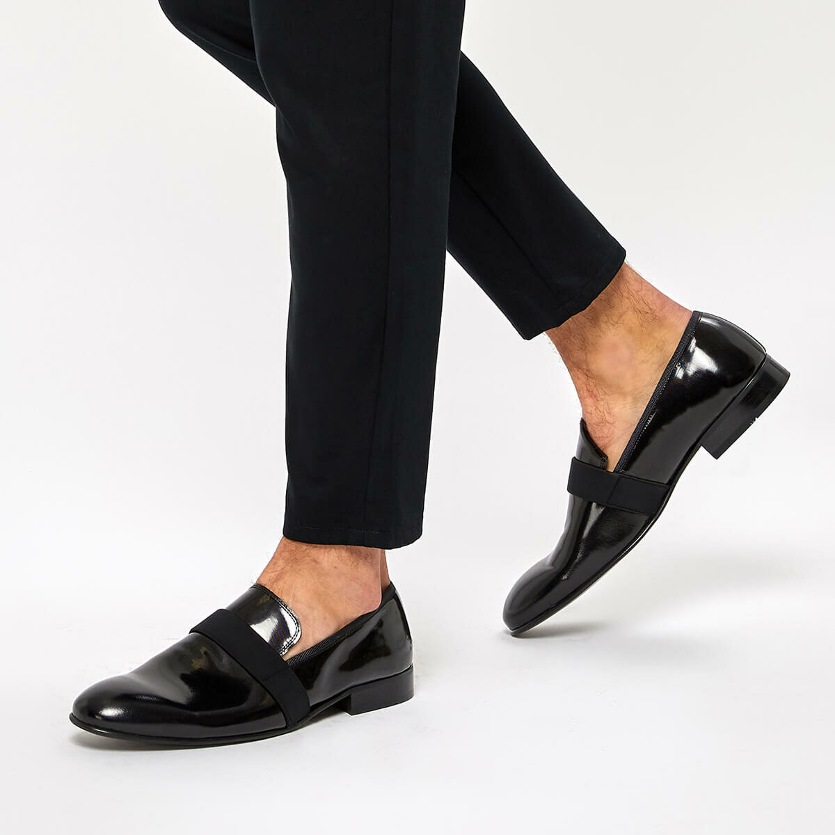 FLO 3839 Black Men 'S Classic Shoes Garamond