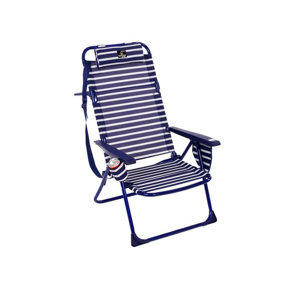 Folding Chair Aluminium Blue White