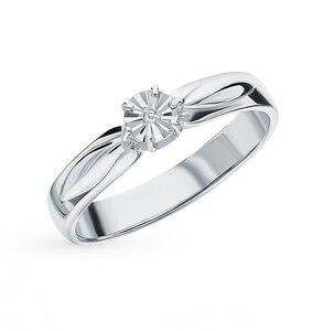 Серебряное кольцо с бриллиантами SUNLIGHT проба 925