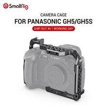 SmallRig DSLR gh5 kamera kafesi için Panasonic gh5/Lumix gh5s soğuk ayakkabı ile montaj 1/4 3/8 dişli delikleri ve Nato demiryolu 2646