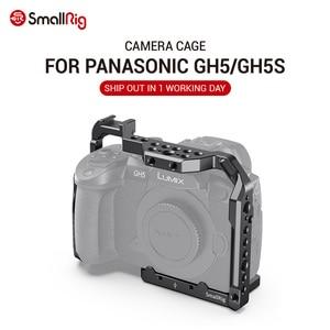 Image 1 - 파나소닉 gh5 용 SmallRig DSLR gh5 카메라 케이지/콜드 슈 마운트가있는 Lumix gh5s 용 1/4 3/8 나사 구멍 및 나토 레일 2646