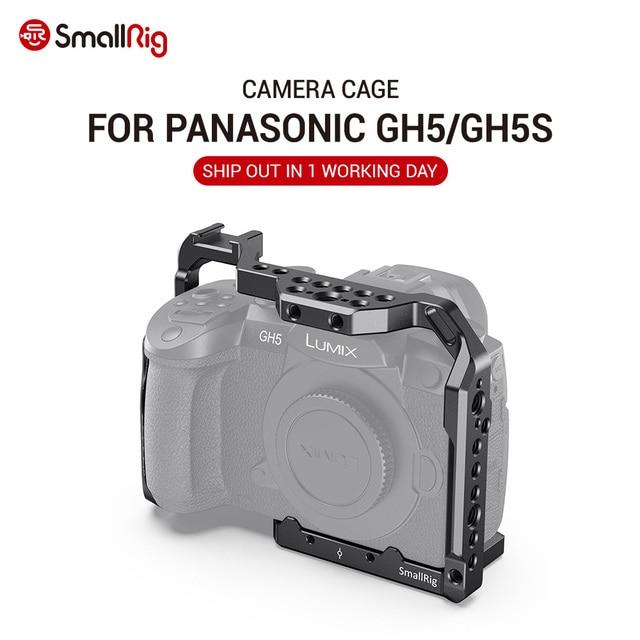 파나소닉 gh5 용 SmallRig DSLR gh5 카메라 케이지/콜드 슈 마운트가있는 Lumix gh5s 용 1/4 3/8 나사 구멍 및 나토 레일 2646