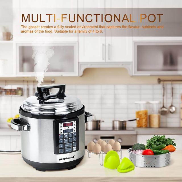 6 Qt Electric Pressure Cooker 10-in-1 Multi-Use Programmable Pressure Cooker Rice  Stew Soup Porridge Cake Maker 1