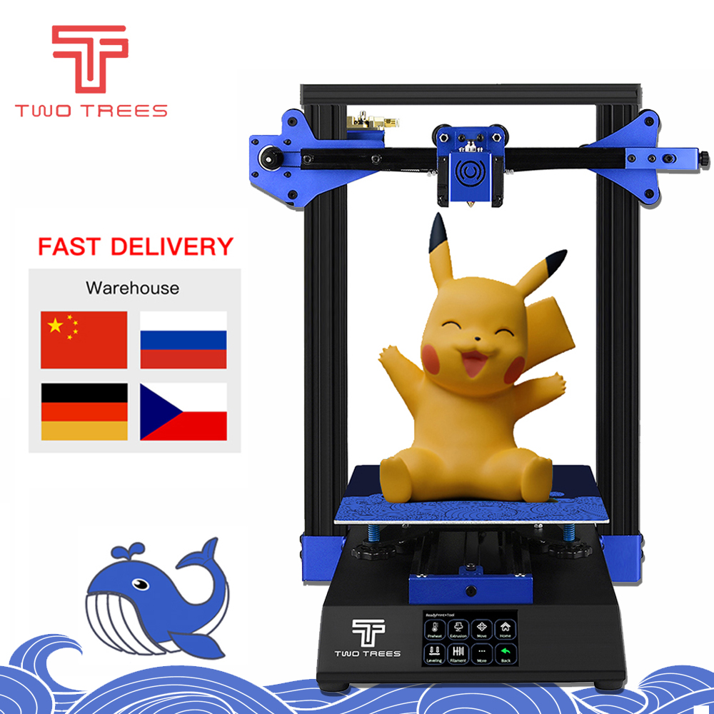 TWO TREES 3D Printer Bluer High precision Auto Leveling Resume Print Tempered Glass Resume title=