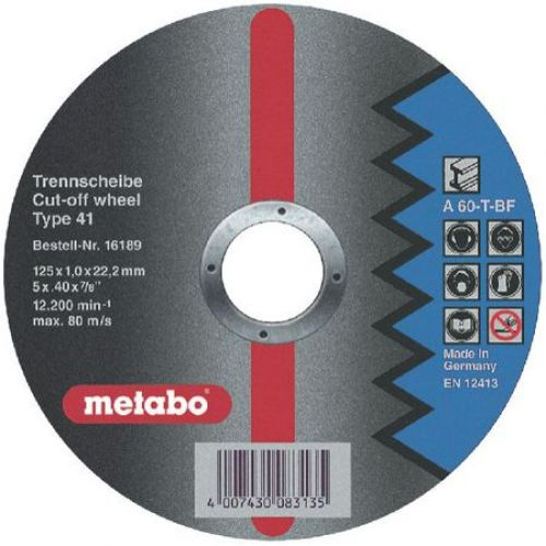 Circle Cutting METABO 125х1х22 616189000