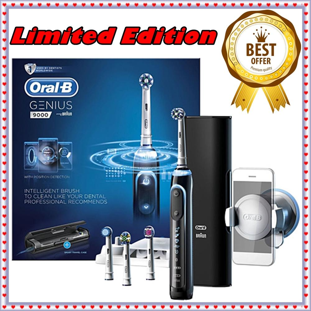 Made in GERMANY Oral-B Genius Black PRO 9000 Electric Rechargeable Toothbrush Designed by Braun image