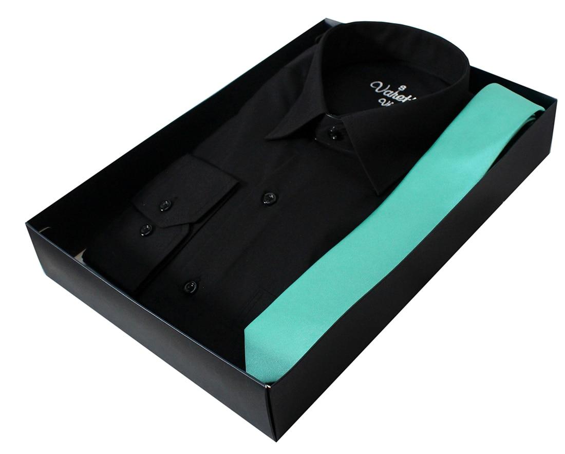 : Anniversary gifts for husband men gift shirts for men gift set for men balack shirt men gifts for men tie boyfriend giftVaretta