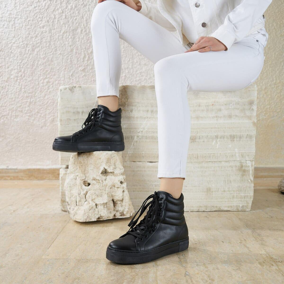 FLO HANDEL K85Z SKIN Black Women Boots BUTIGO