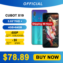 Cubot Helio P23 Mt6763t Smartphone 64GB Octa Core Fingerprint Recognition/face Recognition
