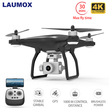 LAUMOX X35 Drone GPS WiFi 4K kamera HD Profissional zdalnie sterowany Quadcopter bezszczotkowy silnik drony stabilizator Gimbal 30 minut lotu tanie i dobre opinie 4 k hd nagrywania wideo Kamera w zestawie Brak 1000m build-in 6 Axis Gyro Naprawiono ostrości 4 kanałów 5Ghz App kontroler