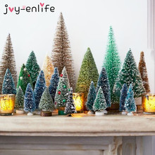 8pcs Christmas Tree Fake Pine Mini Sisal Xmas Decorations for Home Artificial Natal New Year Ornaments