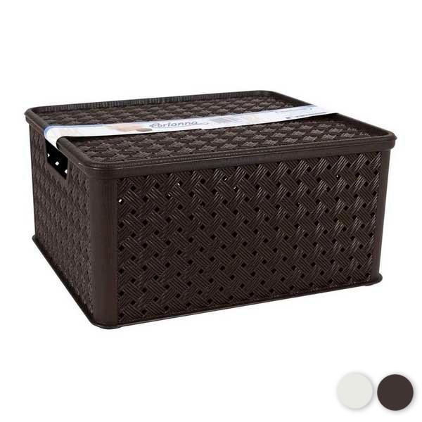 Storage Box with Lid Tontarelli 13 L Plastic (33 X 29 x 16 cm)|Foldable Storage Bags| |  - title=