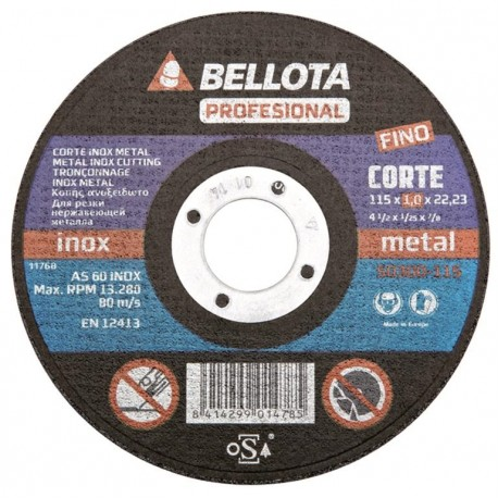 CUTTING DISC STAINLESS ACORN 125X1X22 50300-125