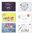 6 открыток с 6 конвертами поздравительные открытки на день рождения открытка спасибо настраиваемая Рождественская Свадебная вечеринка пригласительная открытка пустая - фото