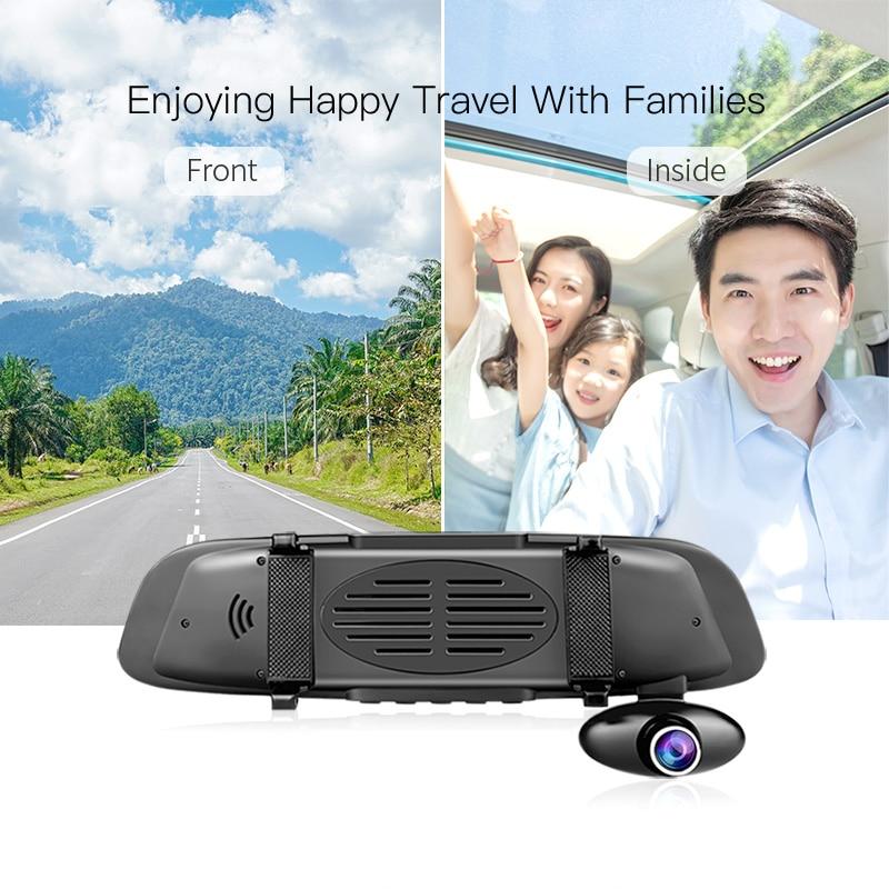 E-ACE Автомобильное зеркало заднего вида Dvr 5,0 дюймов зеркало заднего вида FHD видео рекордер 3 камеры HD объектив Dashcam с камерой заднего вида