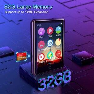 """Image 2 - Lecteur MP3 Bluetooth 2.8 """"plein écran tactile Portable 32GB intégré grande mémoire HiFi lecteur de musique FM Radio podomètre vidéo Playe"""