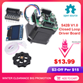 BIGTREETECH SERVO42 tarjeta de Control de controlador de bucle cerrado S42B V1.0 42 Partes de impresora 3D Motor paso a paso OLED Nema 17 SKR V1.3 V1.4 MKS