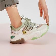Women Sneakers Shoes 2020 Fashion Leather Platform Casual 5.5cm