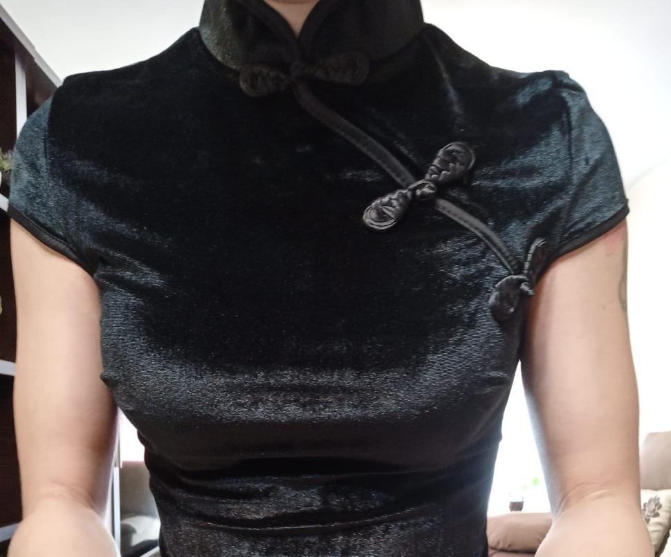 Pastel gothic E-girl cheongsam dress photo review