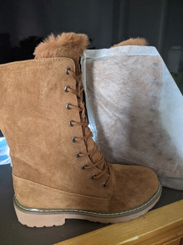 Leather Winter Snow Boots photo review
