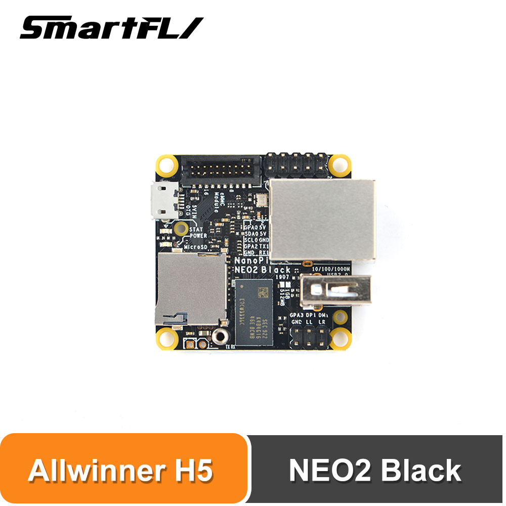 Smartfly FriendlyARM NanoPi NEO2 Black 1GB ARM Board A53 Mini Linux Board Emmc TF Card Support Faster Than Raspberry PI