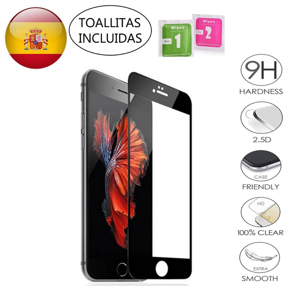 Protector Tempered Glass Screen To IPhone 5 5S 5C SE 6 6S 7 8 11 PLUS X XS XI PRO Black Color