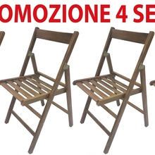 4 chairs folding chair brewery in wood walnut reclosable for camping House