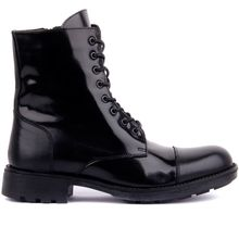 Sail-Lakers Black Opening Leather Zipper Male Boots()