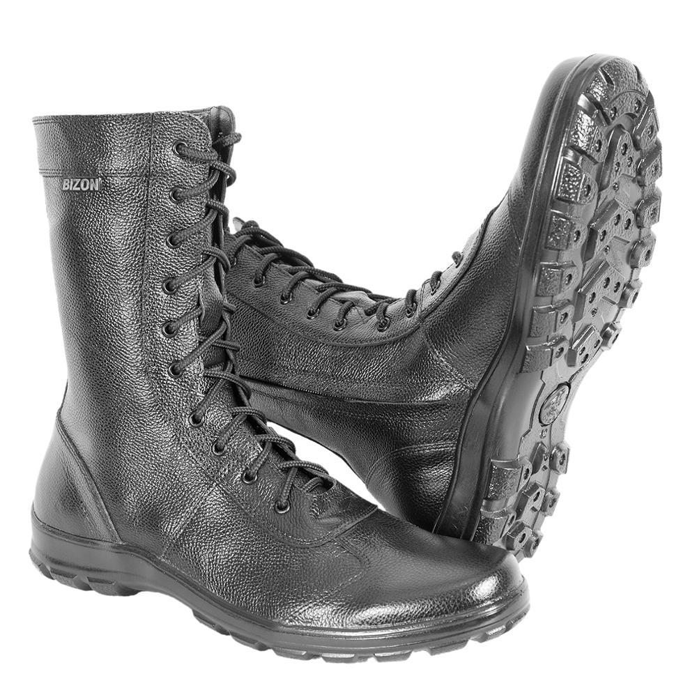 Demi-saison bottines en cuir véritable chaussures pour hommes armée militaire bottes hautes