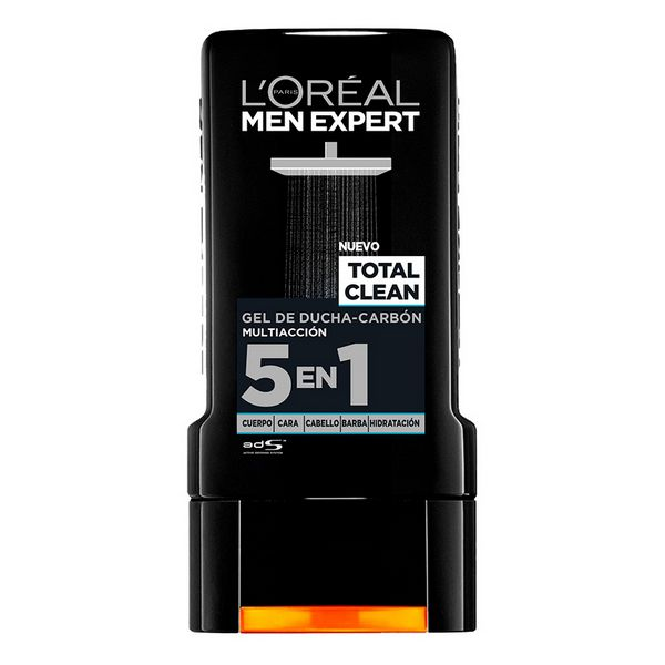 Shower Cream Total Clean L'Oreal Make Up (300 Ml)