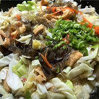 包菜豆腐炖粉条的做法图解8