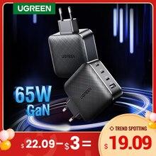 Ugreen – Chargeur rapide GaN 4.0, 3.0 de type C pour IPhone 12 Pro, Xiaomi, recharge, chargement express pour ordinateur portable, PD USB avec QC 4.0, 3.0, 65W