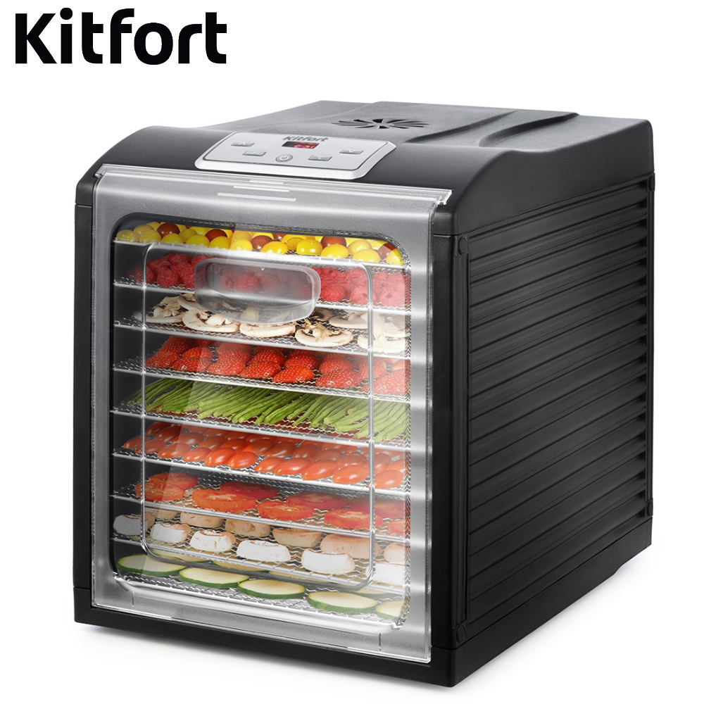 Dryer for vegetables and fruits Kitfort KT-1908 Dryer for vegetables and fruits Dehydrator for vegetables and fruits недорого