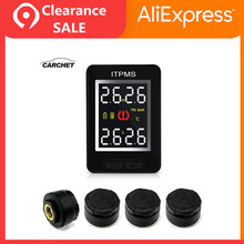 CARCHET Car TPMS Wireless Auto Tire Pressure Monitoring System With 4 External Sensors LCD Real-time Embedded Monitor For Toyota careud u912 tpms car tire pressure wireless monitoring system 4 built in sensors and lcd display embedded monitor for honda car