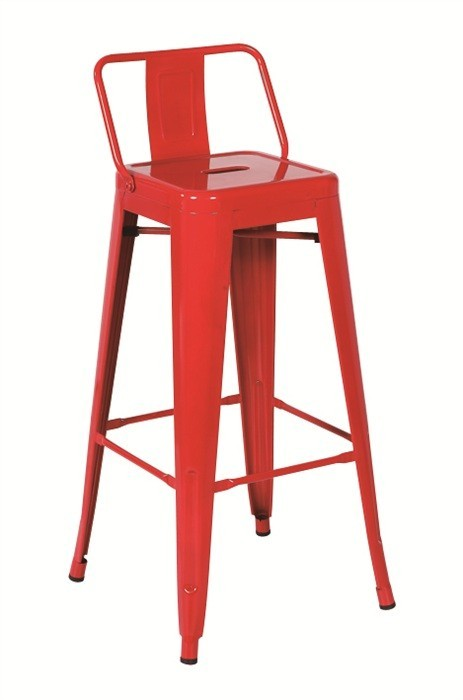 Stool TOL SEA, Steel, Red