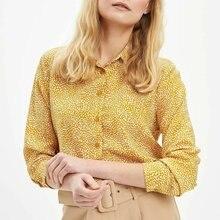 DeFacto Woman Spring Top Shirts Women Chic Yellow Shirts