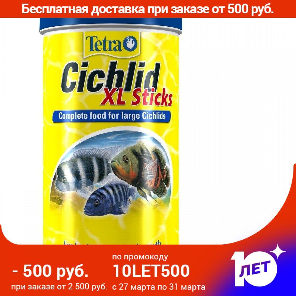 Tetra Cichlid XL Sticks (палочки) для любых видов цихлид, 1 л.