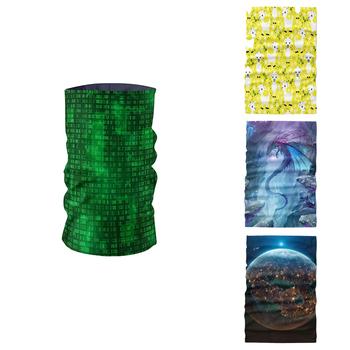 3D drukowane letnie kobiety szalik rowerowe nakrycia głowy bezszwowe mężczyźni ocieplacz na szyję maska do airsoftu pałąk Bandana buffe Tube tanie i dobre opinie Dla dorosłych Poliester Z pałąkiem na głowę Drukuj Moda 60 cm Szaliki TJ22 3D Printed