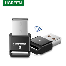 UGREEN USB Bluetooth Transmisor receptor 4,0 adaptador Dongle aptx auricular inalámbrico PC Audio Compatible con Bluetooth 5,0
