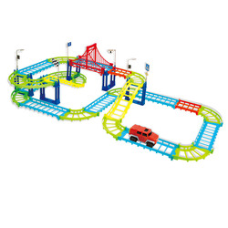 SET OF THE GAME CAR TRACK WITH THE MACHINE WITH THE MOTION FUNCTION, 1АА, PLASTIC,