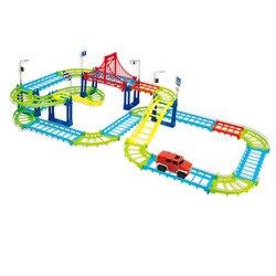 SET de la pista del coche del juego con la máquina con la función de movimiento, 1:1, plástico,