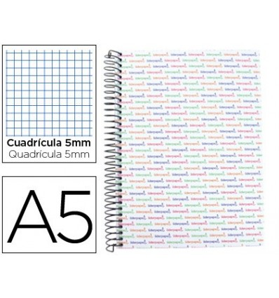 SPIRAL NOTEBOOK LEADERPAPER A5 MICRO MULTILIDER LINED TOP 140H 80GSM TABLE 5MM 5 BANDS 6 DRILLS WHITE