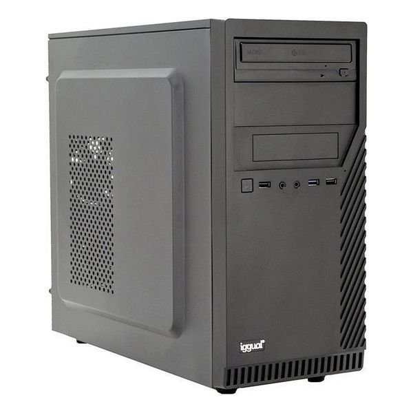 Desktop PC Iggual PSIPCH432 I7-9700 8 GB RAM 120 GB SSD W10 Black