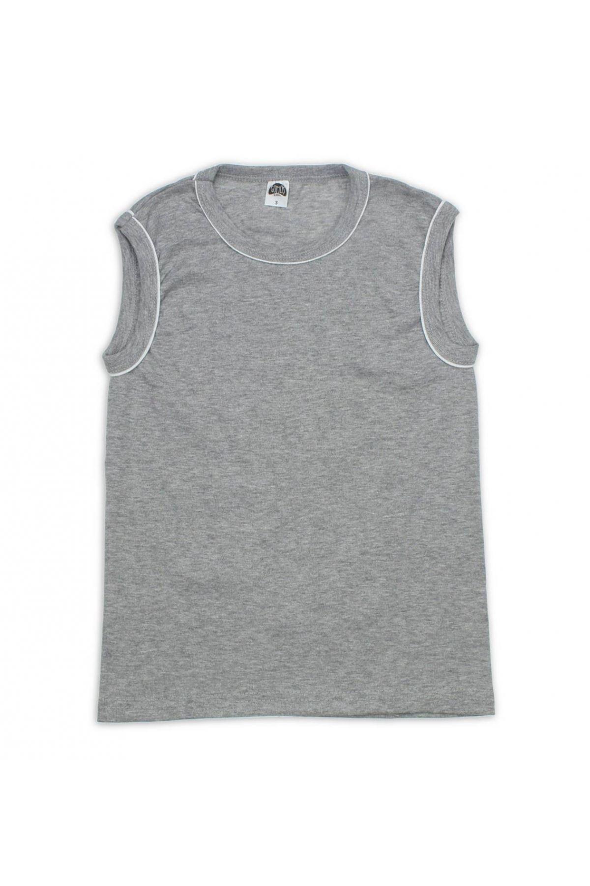 Silver Underwear Clothing Male Child Gray Sports Undershirt 040-4049-011